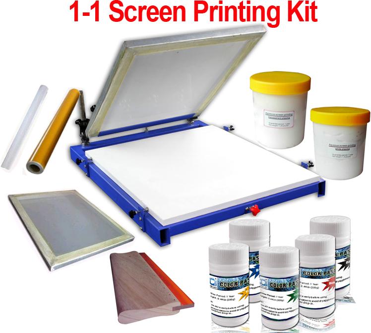 Simple screen printing machine the for Diy screen printing t shirts