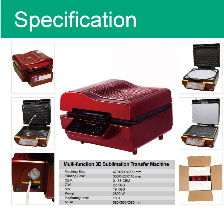 Free Shipping 3d Sublimation Transfer Machine Heat Press