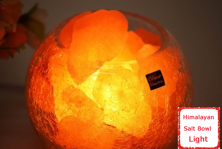 Himalayan Salt Lamp Bowl Light Rock Crystals Natural AIR Purifier 152261 eBay