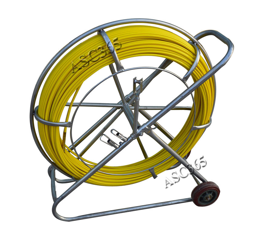 Fish tape fiberglass wire cable running rod duct rodder for Wire fishing rod