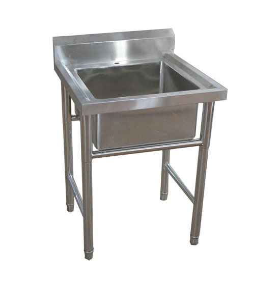 about commercial kitchen stainless steel sink with leg standing
