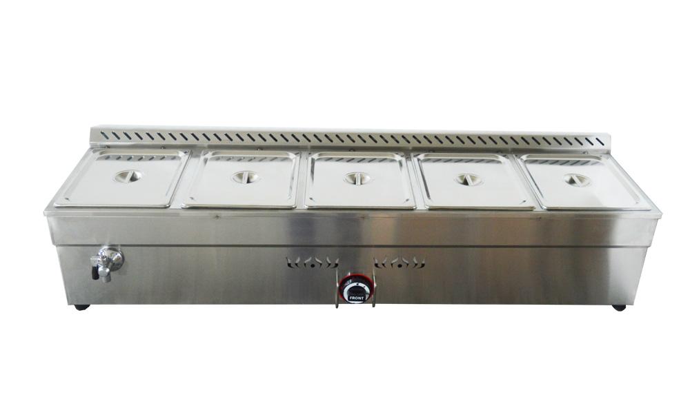 5 pan natural gas bain marie buffet food warmer steam for Sideboard petrol