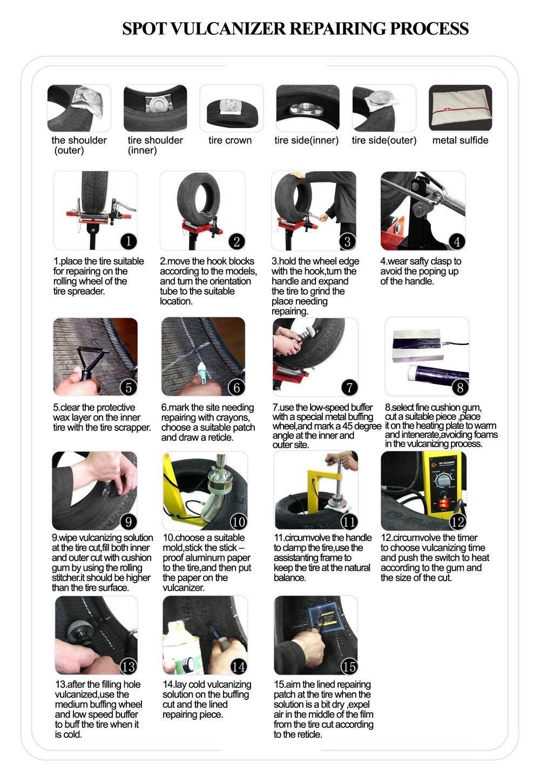Tire Tyre Puncture Repair Tool Kit Timing Control ...