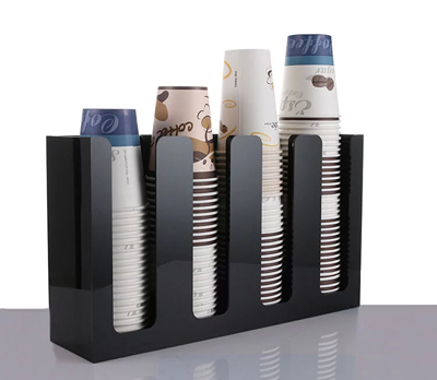 New Coffee Paper Cup Lid Holder Dispenser 4sl Organizer