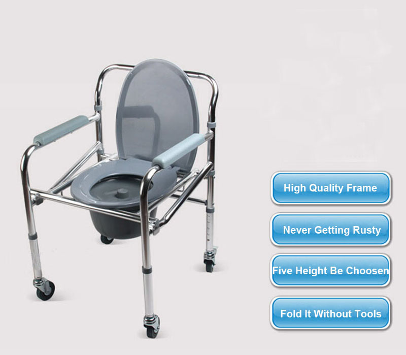 folding aluminum shower chair wheelchair commode wheels bath seat bath