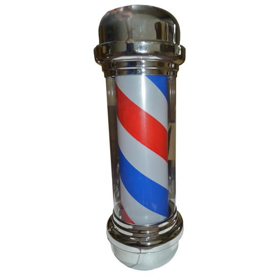 Barber Pole Red White Blue Rotating Light Hair Salon Sign