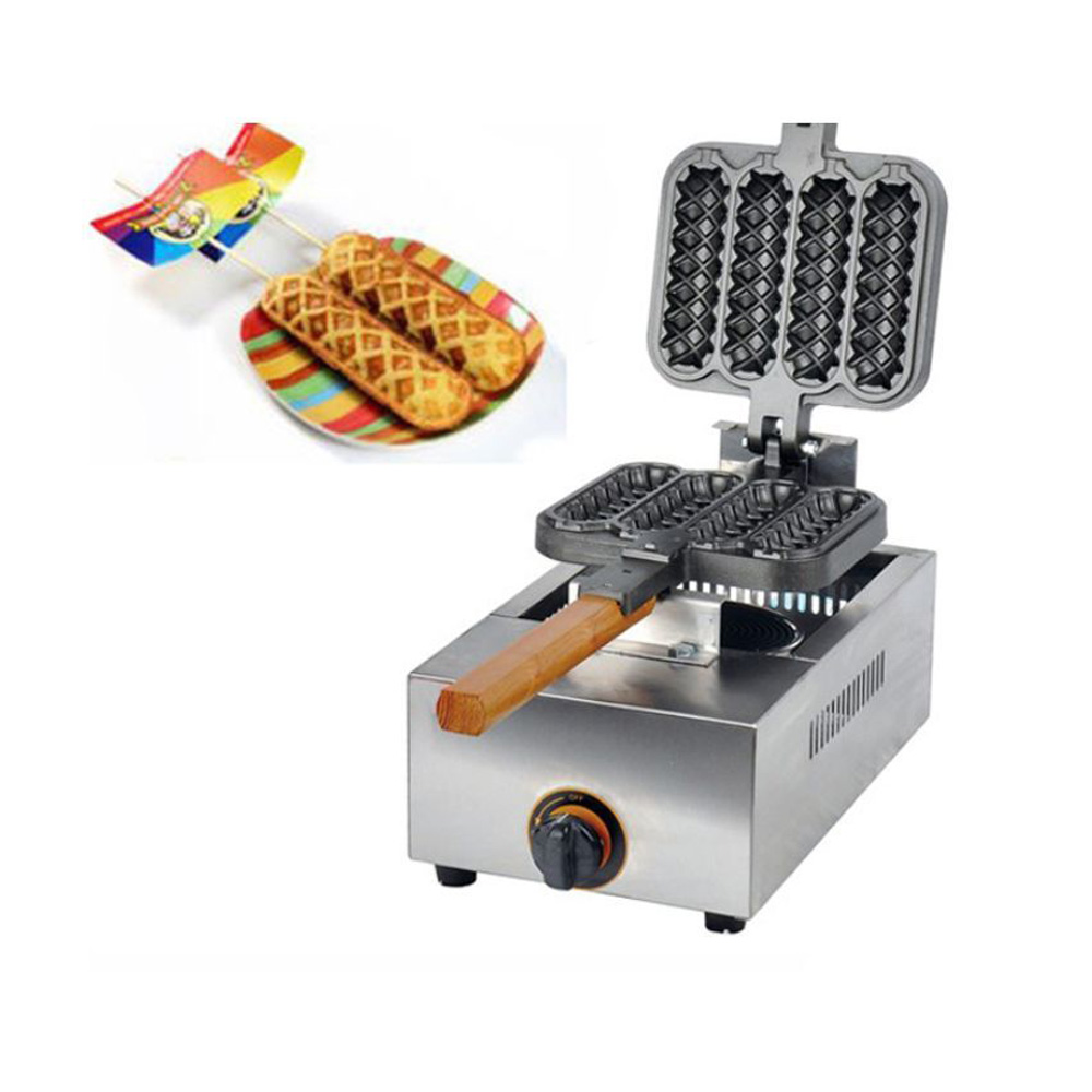 Commercial Use Non Stick Gas Lpg Lolly Waffle Maker Baking