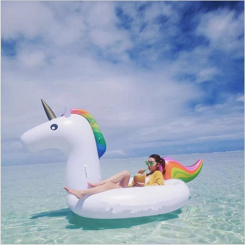 Inflatable Giant Unicorn Mounts Floats Swimming Pool Toy Adults Children Raft Ebay