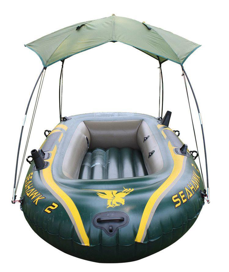 Canopy for seahawk inflatable boat 2 person sun shelter for Seahawk fishing boat