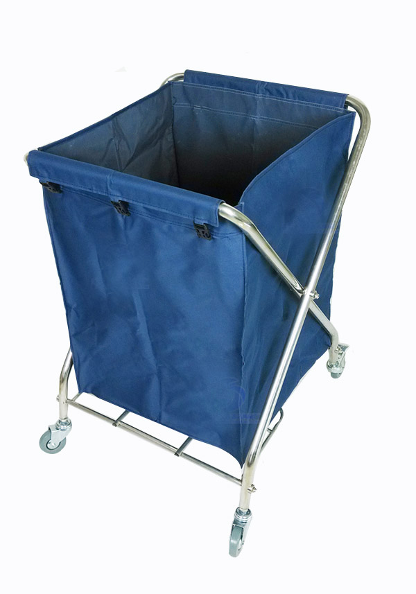 You Will Get One High Quality Hotel Grade Brown Canvas Rolling Laundry Cart With A Strong Metal FrameThis Brand New Is Great For Large Loads