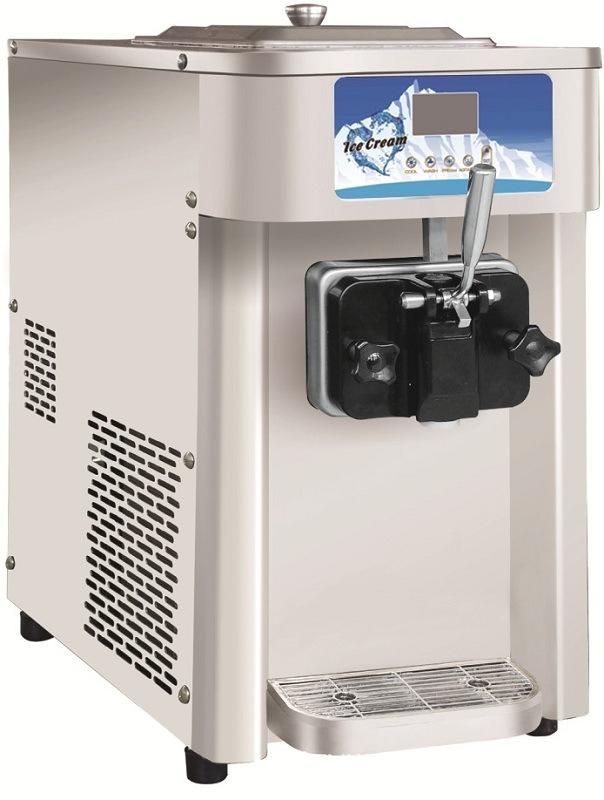 commercial 12l h single flavor soft ice cream machine frozen yogurt machine110v ebay. Black Bedroom Furniture Sets. Home Design Ideas