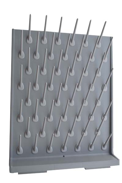Brand New Lab Supply Wall Desk Drying Rack 52 Pegs
