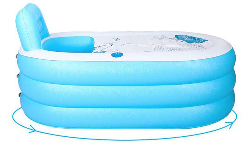 pvc inflatable folding bathtub adult portable air pumpfast xmas gift comforta. Black Bedroom Furniture Sets. Home Design Ideas