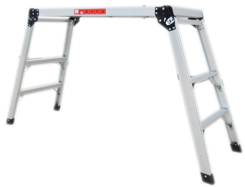 Aluminum Platform Drywall Step Up Folding Work Bench Stool