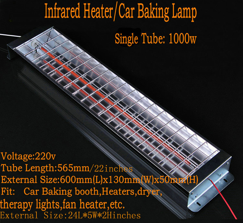 Spray Baking Booth Infrared Carbon Fiber Paint Curing Lamp