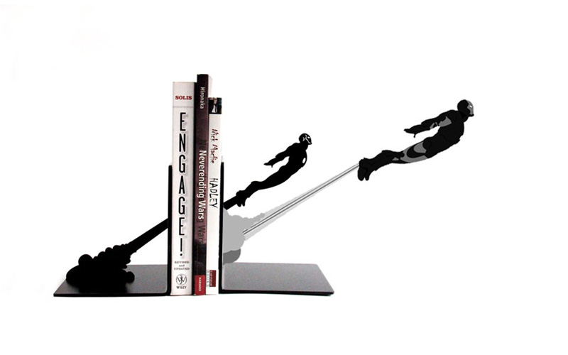 Hot Sale Creative Bookends Super Heroes Creative Gifts The