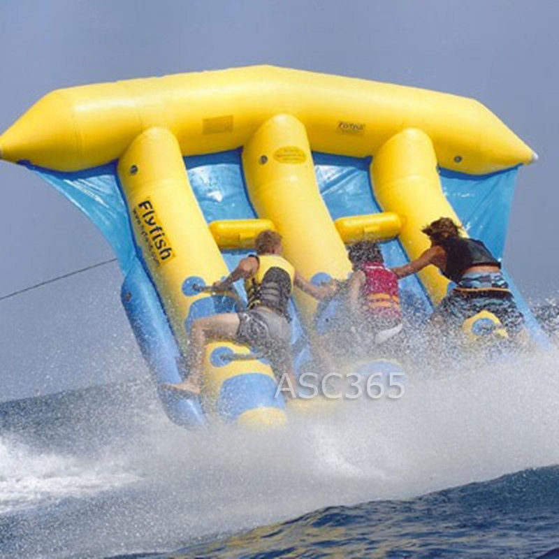 Water Games Inflatable Flying Fish Banana Boat For 6