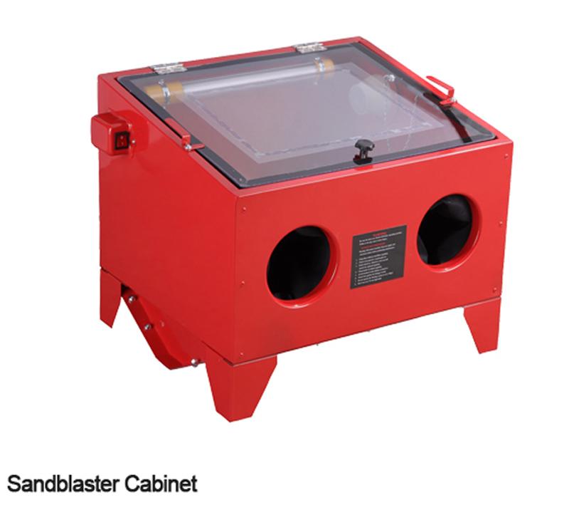 90l Sand Blast Cabinet Sandblaster Air Sandblasting Gun