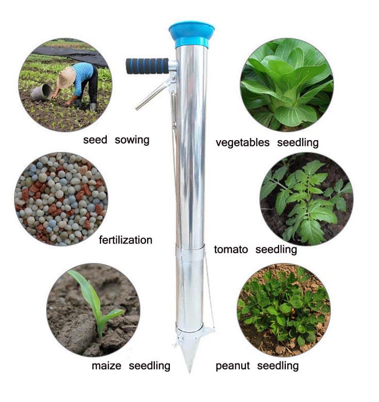 INTBUYING Double Shank Manual Planter Transplanter Seeder Seedling ...