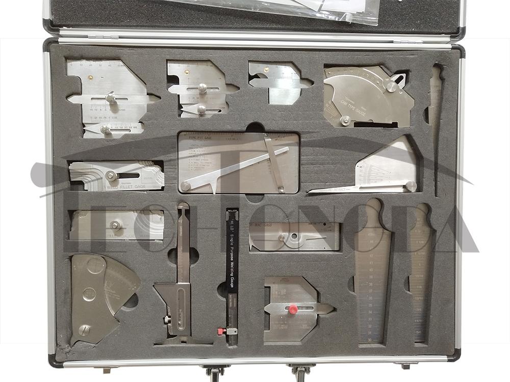 16 pieces Welding Measurement Gauge Tool Case Welding Gage