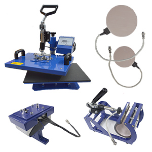 New 5 In 1 Combo Heat Press Vinyl Cutter Plotter