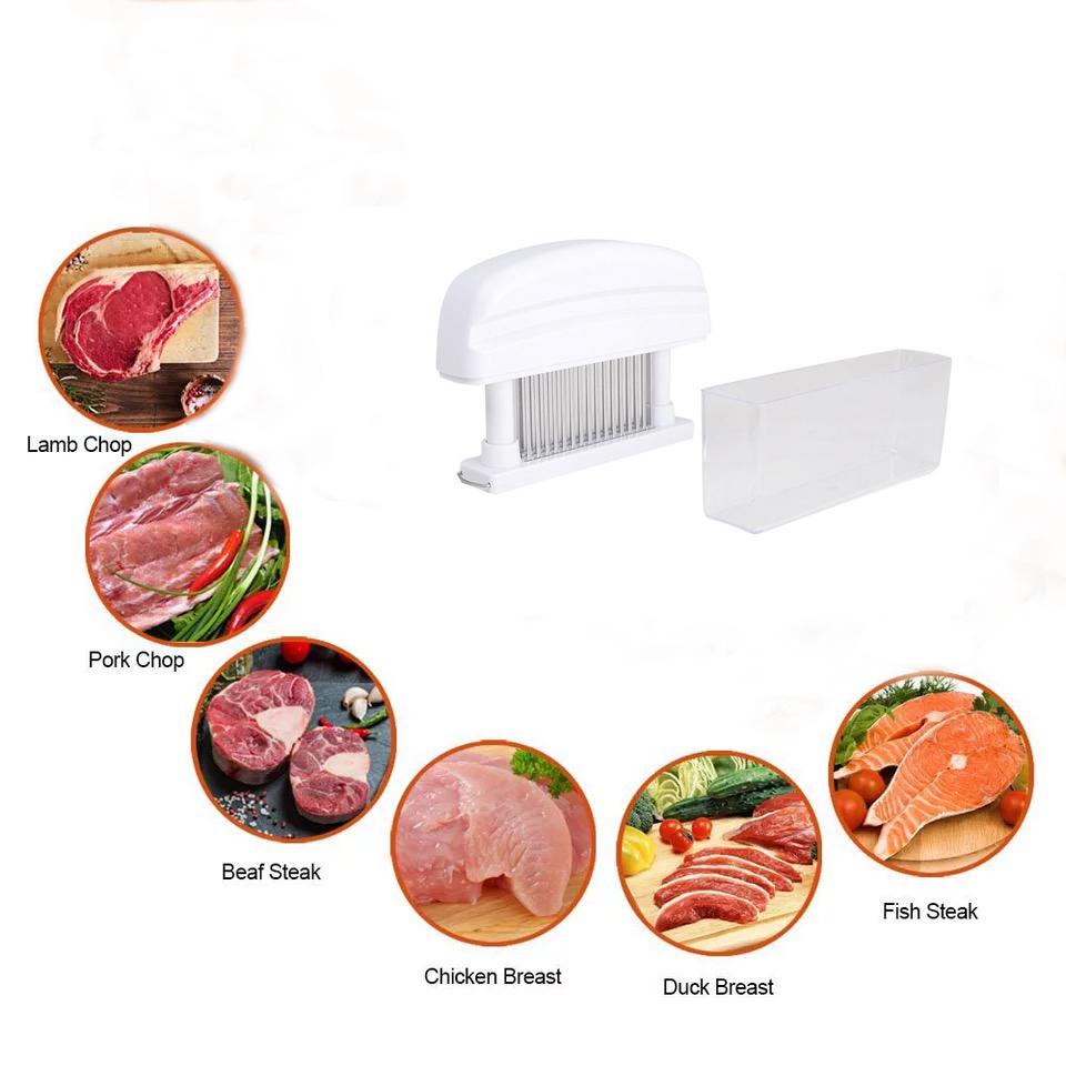 48-Stainless Steel Blade Meat Tenderizer Sharp Steak Pork Needle Prongs Tool