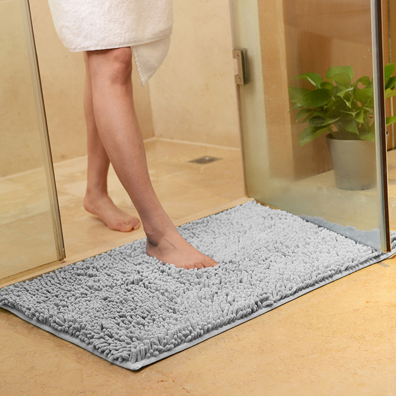 Non Slip Microfiber Shag Bathroom Rugs Bath Mats Shower